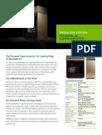 Dgx Station Data Science Supercomputer Datasheet 10232017