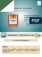 Termodinámica y Termotécnia - Ciclos de Refrigeración