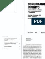 Zarazaga, R.; Ronconi, L. Conurbano Infinito. Introducción y Cap. 1