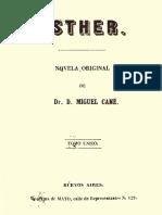 Cané, Miguel (P) - Esther. Novela_original