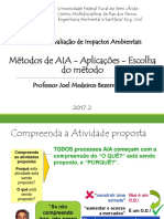 Aula 7 - 2016.1 EAIA - Métodos de Avaliação de Impactos Ambientais