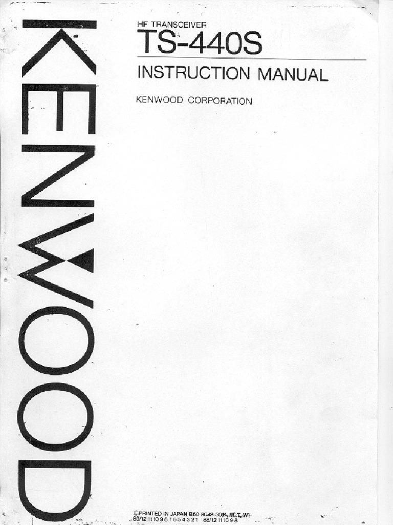 Kenwood TS-440S Instruction Manual