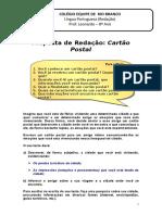 Proposta de Redação - Cartão Postal