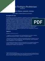Curso-Agustín de Hipona-pensador Cristiano (Extensión)