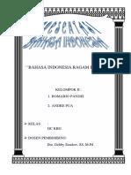 Bahasa Indonesia Ragam Ilmiah 1