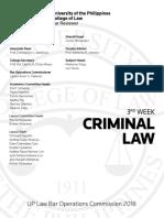 Up Law Boc 2016 Criminal Law Reviewer