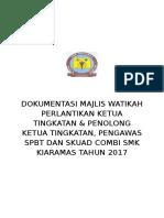 Dokumentasi Perlantikan Ketua Tingkatan