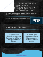Therapists' Views on Working With Bilingual Spanish-English