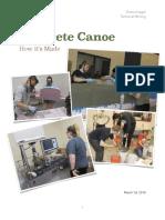 concrete canoe process description