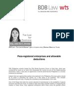 438. Peza-registered enterprises and allowable deductions - JLA 5.29.14.pdf