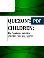 Quezon's Children the 2014 Quezon Provincial Nutrition Situation Facts and Figures