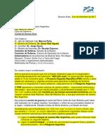 Carta Pública Al Gobierno Macri