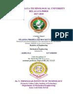 Seminar Report on Plasma Propelled Rocket Engines