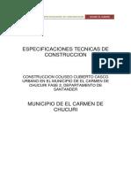 Especificaciones Tecnicas Coliseo El Carmen de Chucuri Fase 2x