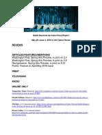 Press Report - Ballet Nacional de Cuba
