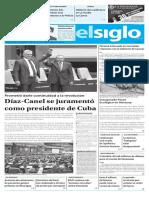 Edición Impresa 20-04-2018