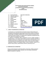 Sílabo Matemática Básica EM
