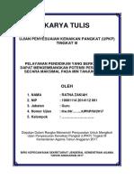 Cover Karya Tulis Ilmiah