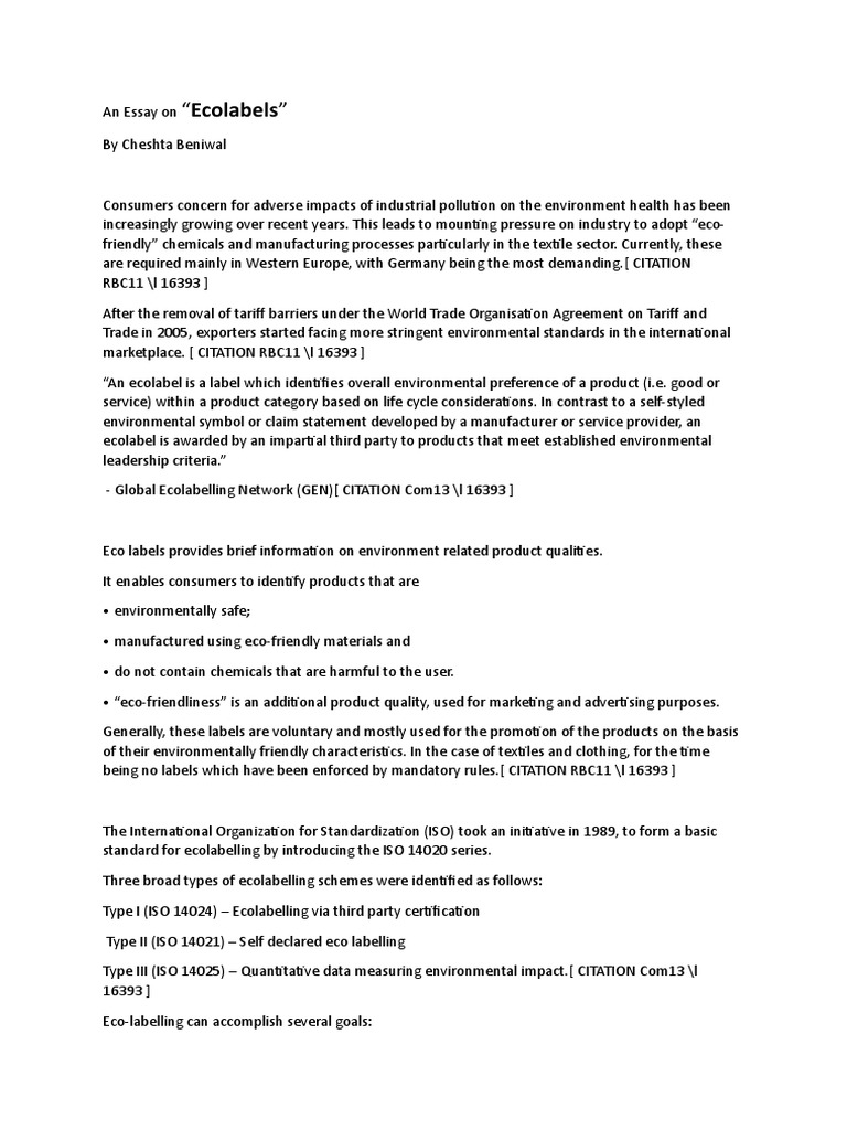 eco labels essay  sustainability  natural environment  essay on health promotion also essays about english language how to write a thesis statement for a essay