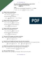 Ma6351 Unit IV Fourier Transforms