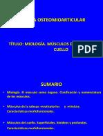 Conferencia 11 Miologia. Musculos de Cabeza y Cuello