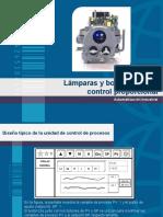 lámparas y botoneras para control proporcional