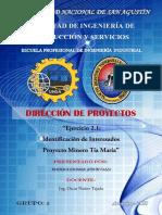 Ejercicio 2.1 - Proyectos