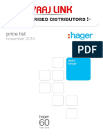 Aptis Hager Pricelist