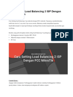 Cara Setting Load Balancing 2 ISP Dengan PCC MikroTik