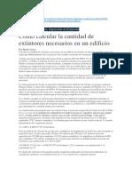 Calculo Extintores - NFPA