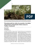 ZENDER, M. y J. SKIDMORE. 2012. Desenterrando los cielos_los murales y las tablas astromómicas del período Clásico maya en Xultún, Guatemala.pdf