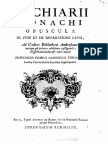 Bachiarii Monachi Opuscula