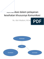 Komunikasi dalam pelayanan kesehatan khususnya Komunikasi Multidisplin.pptx