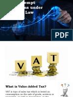 Vat Exempt Transactions Under TRAIN Law