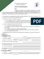 Planilla de Postulación Mérito Estudiantil 2010-Mención Deportes