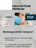 Morfologia Dintilor Temporari - Curs 3 - Modif