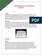 Ventajas y Desventajas de Los Sistema de Archivo
