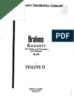 Concerto for Violin and Cello, Op.102 (Brahms, Johannes) - 2nd Violin@12Apr2018