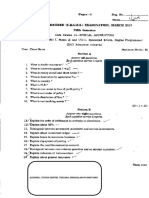 B com MGU CBCSS March 2018 Sixth Sem Question Paper Applied