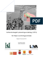 Vattenstrategiskt planeringsunderlag (VSPU) för Höje å avrinningsområde