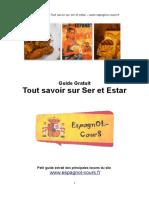 Guide Ser Estar Espagnol Cours