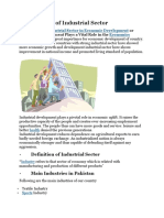 Introduction of Industrial Sector