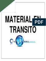 Señaletica Material en Transito