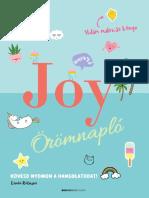 JOY Örömnapló – Kövesd nyomon a hangulatodat!