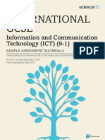 Sample Assessment Material International Gcse in Information and Communication Technology