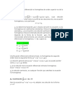 ecuación diferencial