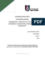 Monografia Coyuntura 2018 Economia General