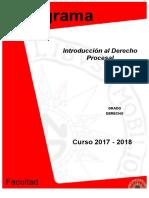 Programa Derecho Introducción Al Derecho Procesal 2017-2018.PDF