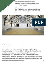 Maurizio Cattelan Interviews Felix Gonzalez-Torres •Mousse Magazine