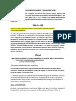 DSM III y III-R (solo autismo)